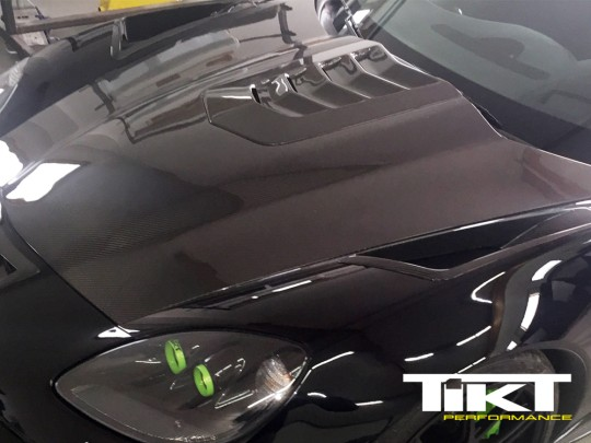TIKT carbon fiber hood with air vents for C6