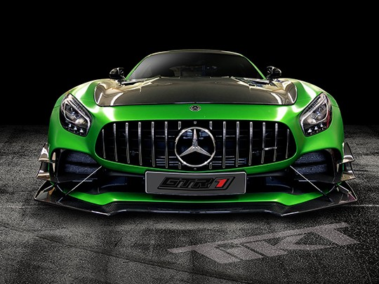 Carbon Fiber track spec front splitter for AMG GT R